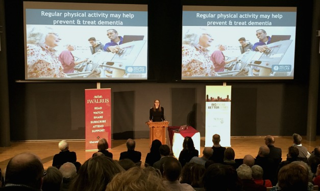 """For our communities to be healthier and stronger, we need to face the mental health challenges of our aging population,' says McMaster expert Jennifer Heisz (pictured above). This was just one of the big ideas discussed at McMaster presents the Walrus Talks Healthy Cities, part of the Big Ideas, Better Cities series."
