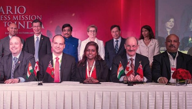 McMaster AVP, International, Peter Mascher (bottom row, second from the right), is currently in India as part of Premier Kathleen Wynne's official delegation.