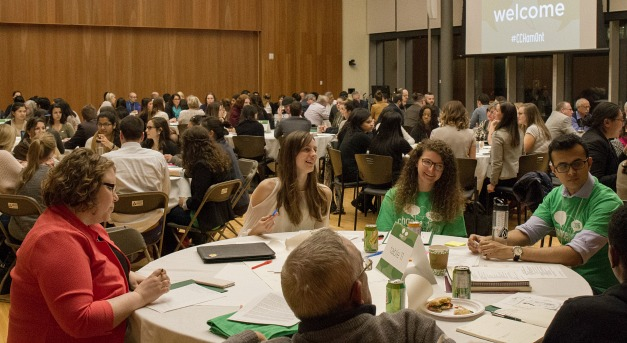 About 200 students, community members, city officials and faculty gathered at the David Braley Healthy Sciences Centre for for Change Camp Hamilton.