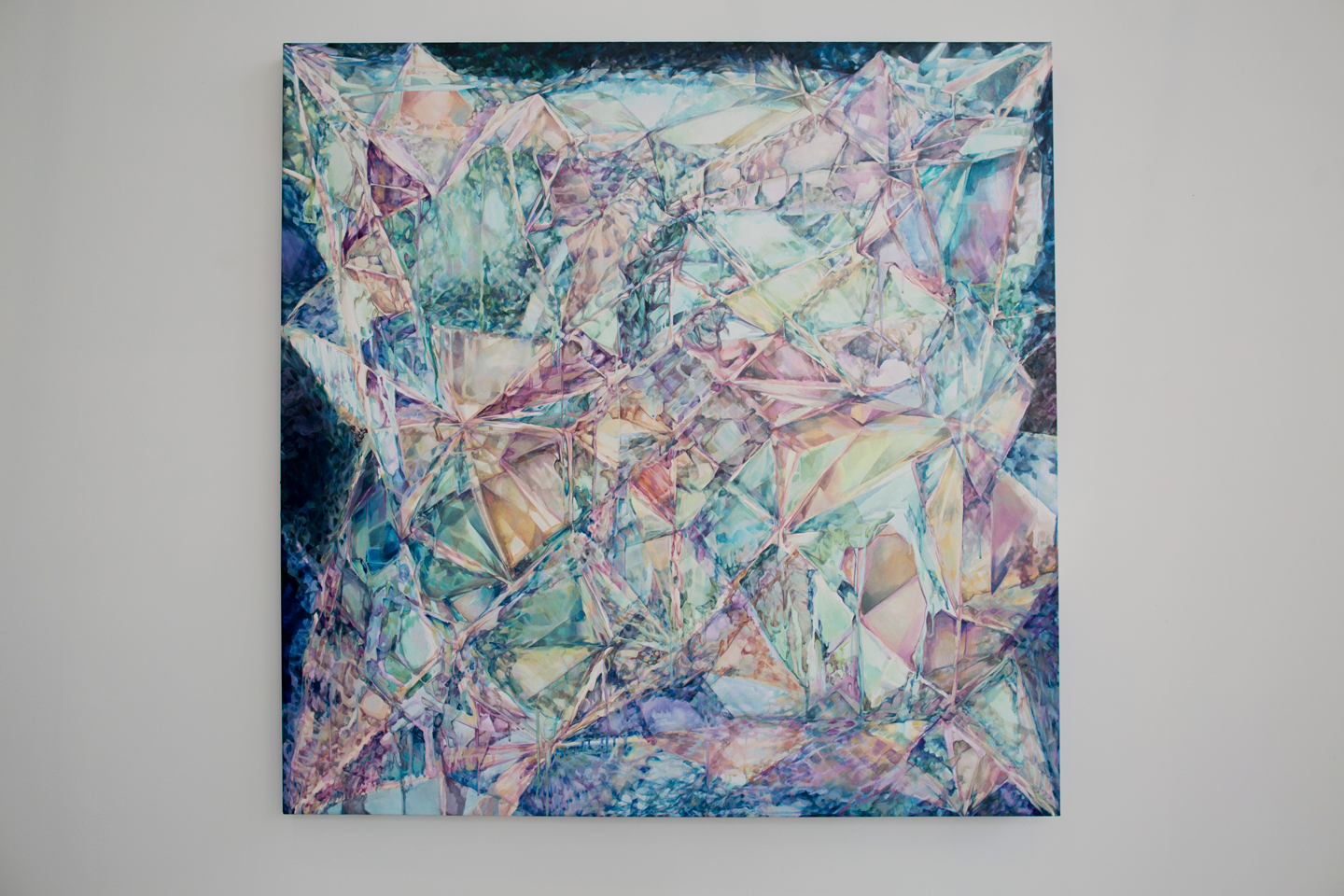 'In- + definitive,' acrylic on canvas by Heather Vida-Moore.