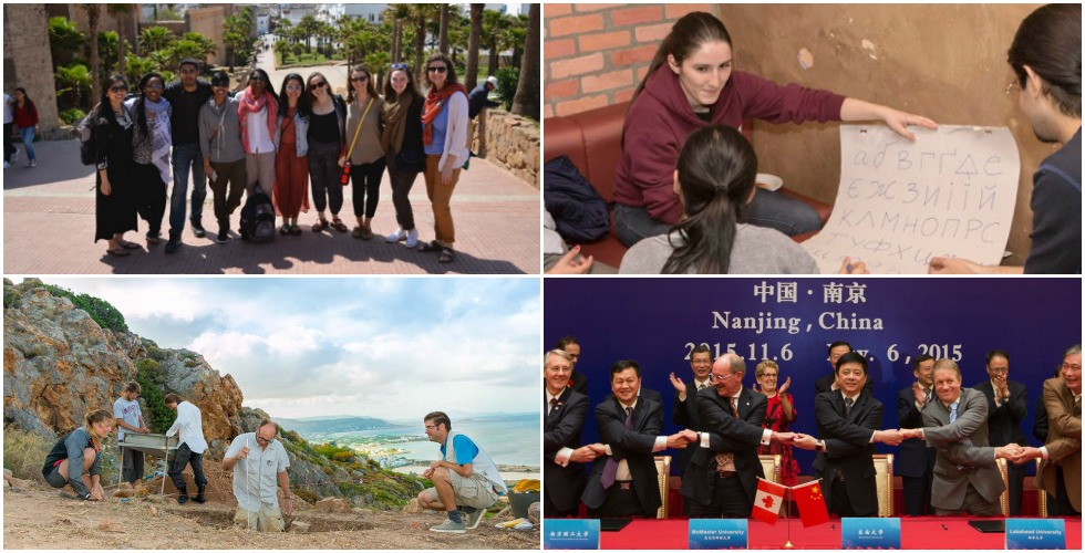 These images represent just a few of the many international academic, research and experiential learning activities that McMaster students, faculty and researchers engage in each year.