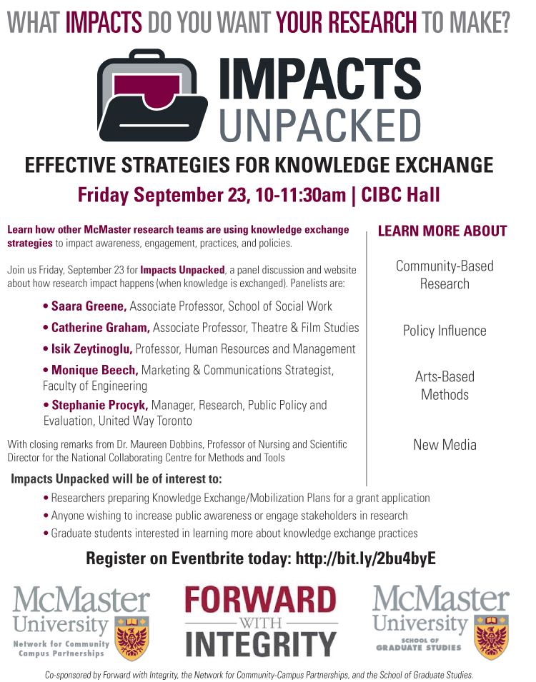 Impacts Unpacked Events Poster