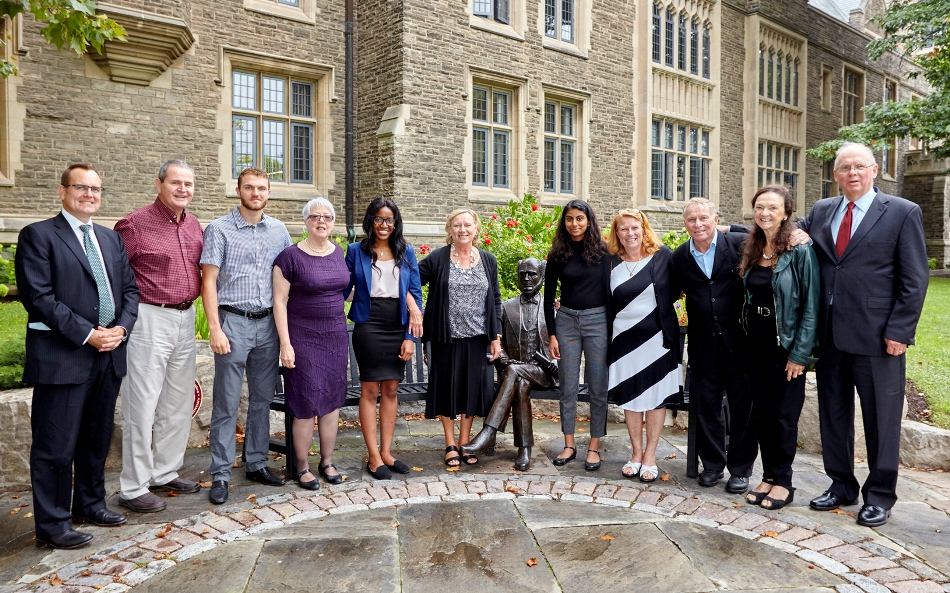 Kulperger family and McMaster students