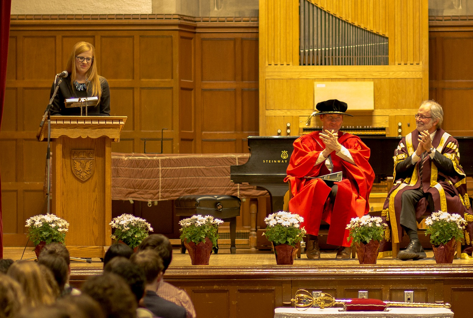 Diana Weir recently spoke to students at the Faculty of Humanities 36th Annual Award Assembly, held in Convocation Hall.