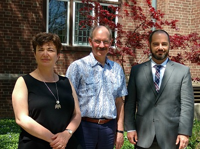 (From left) Ellen Amster, Associate Professor, Department of Health Research Methods, Evidence and Impact with Peter Mascher, AVP, International Affairs and Mark Eckman, from the University of Wisconsin at Milwaukee's (UWM) Center for International Education.