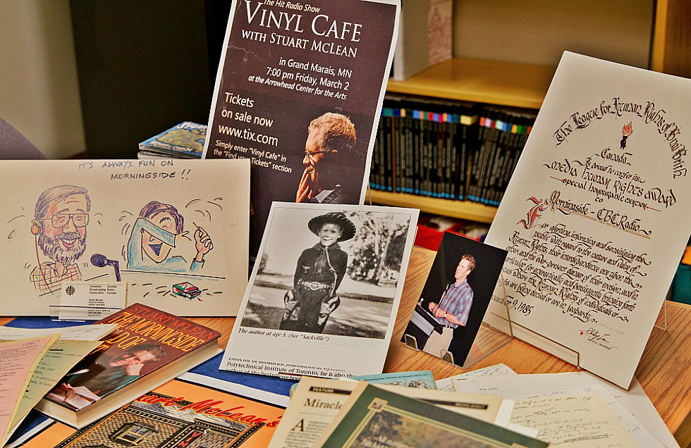 The archives of Stuart McLean – CBC journalist, best-selling author and host of the perennially popular radio program the Vinyl Cafe – have found a new home at McMaster.