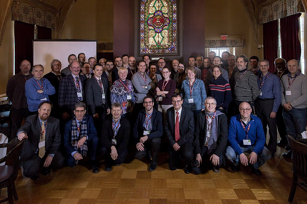 cMaster and French researchers who took part in the joint workshop pose for a group photo at the University Club.