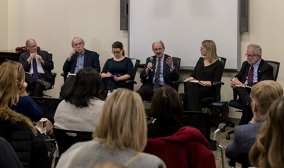 McMaster faculty, staff and students gathered to discuss the internationalization of higher education at a recent talk that explored the importance of global engagement at McMaster and the opportunities and challenges it presents.