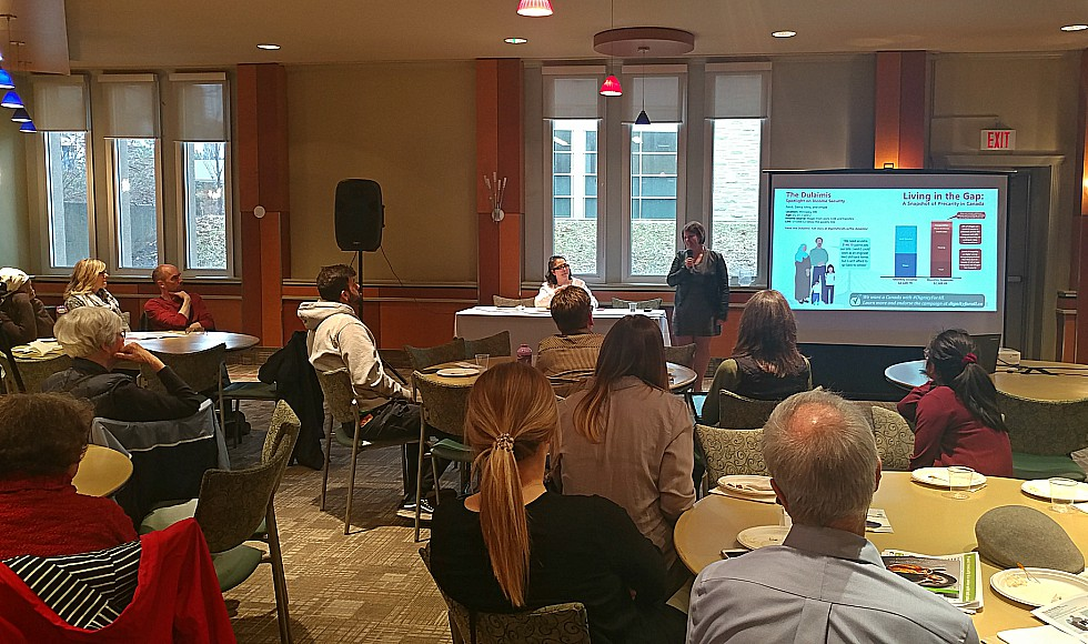 Members of the McMaster and Hamilton communities recently gathered for 'Beyond Income,' an event that explored the complexity of poverty in Canada and what federal and provincial strategies to support those experiencing poverty could look like.