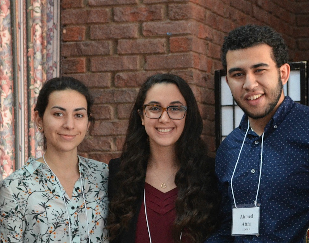 Nicole Areias, an Integrated Sciences student, Marium Kiwan, a Kinesiology student, and Ahmed Attia, a student in Integrated Biomedical Engineering and Health Sciences, placed second in the competition.