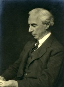 Philosopher, pacifist and public intellectual, Bertrand Russell.