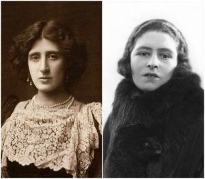 Bertrand Russell frequently corresponded with Lady Ottoline Morrell (left) and Lady Constance Malleson (right) while imprisoned in Brixton.