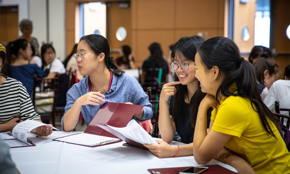 These students are among the 178 university students from around the world currently on campus yo take part in a summer ESL program developed by McMaster's Office of International Affairs.
