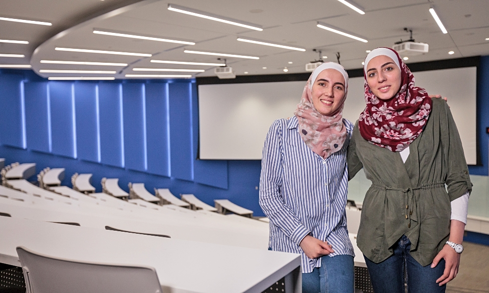 Just 15 months ago, Raghad and Shaza Mahayni arrived with their parents from Syria, hoping to build a better life. This week, they start their first year at McMaster, a significant milestone in their long journey, and the next step toward achieving their goals.