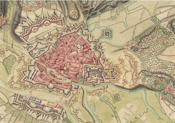 This colourful map is of the fortified French town of Metz. It's one of many such maps in the Clifford Map Collection.