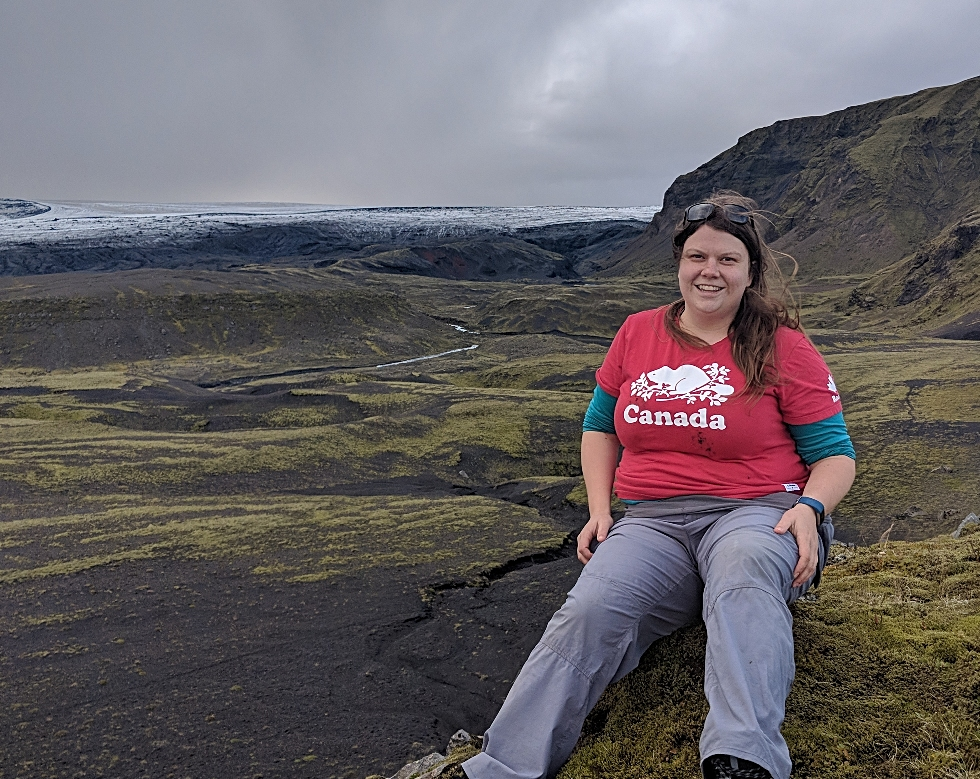 While most of her time analyzing data is spent in Burke Science Building, Rebecca Lee collects field data for her PhD research in Iceland. As part of the Glacial Sedimentology Lab, led by Dr. Carolyn Eyles, she spent two weeks in southern Iceland this past August looking at the sediments and landforms produced by Icelandic Glaciers.