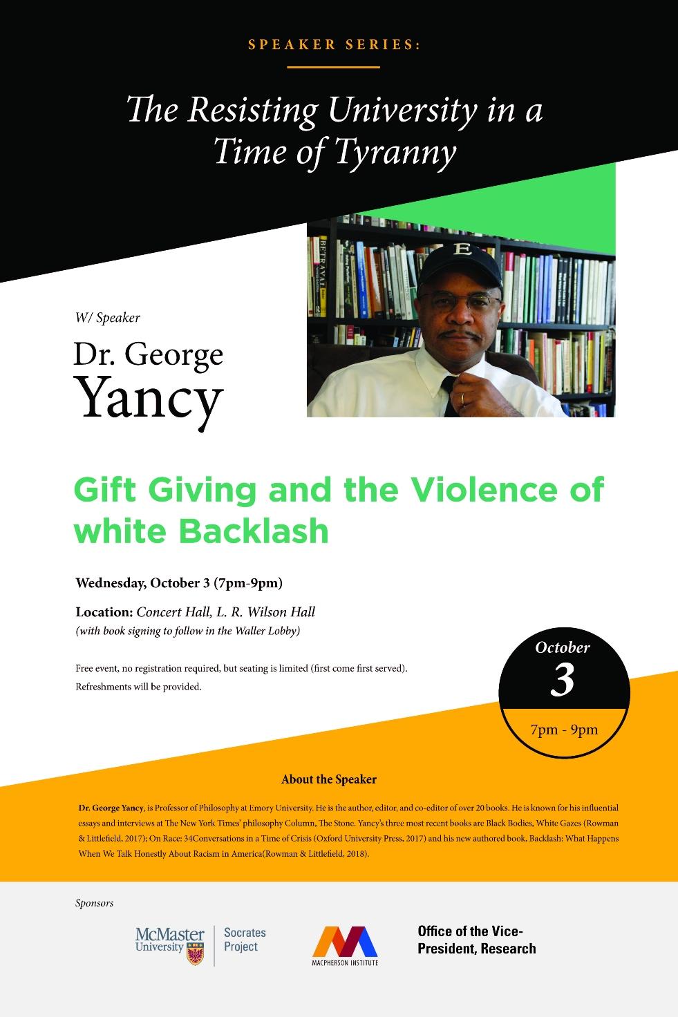 George Yancy Poster