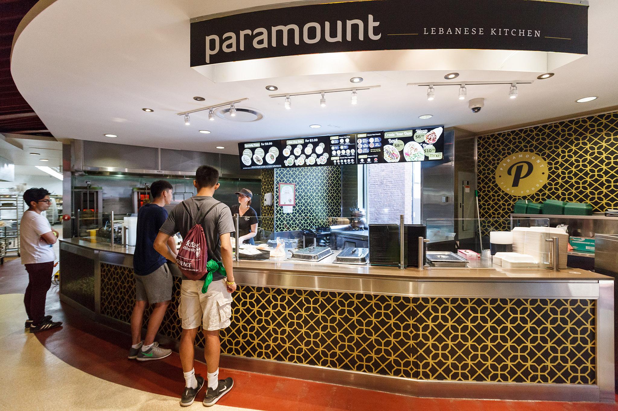 Paramount, McMaster Hospitality Services