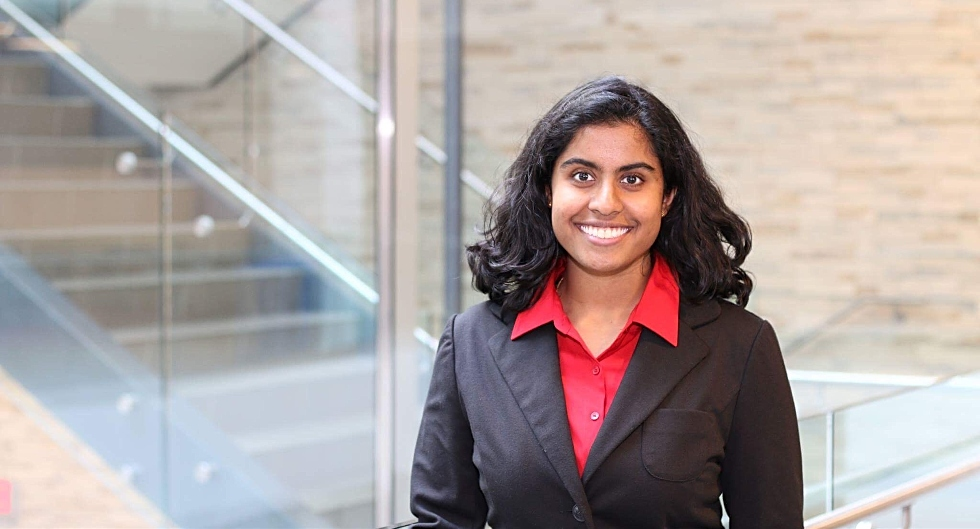 McMaster Global Health student Aloka Wijesooriya has been named a runner-up in a global competition that asked students to consider what a world where companies care and people come first could look like.