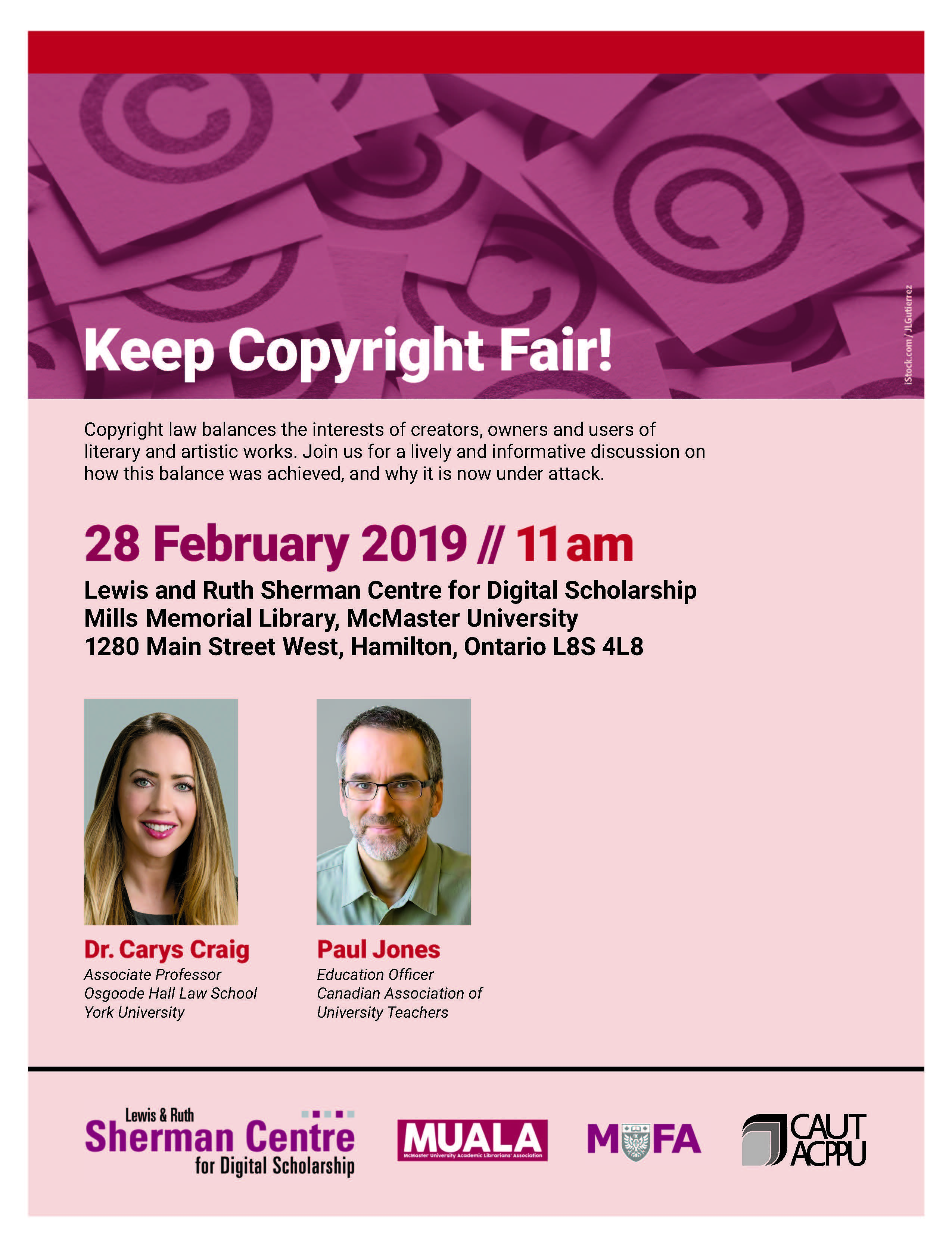 Poster promoting the Keep Copyright Fair event