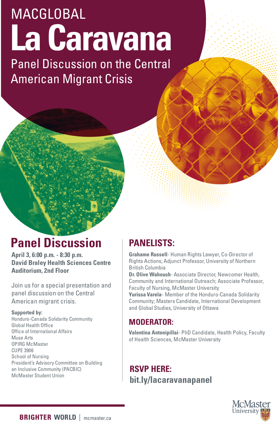 Poster of La Caravana panel discussion event.
