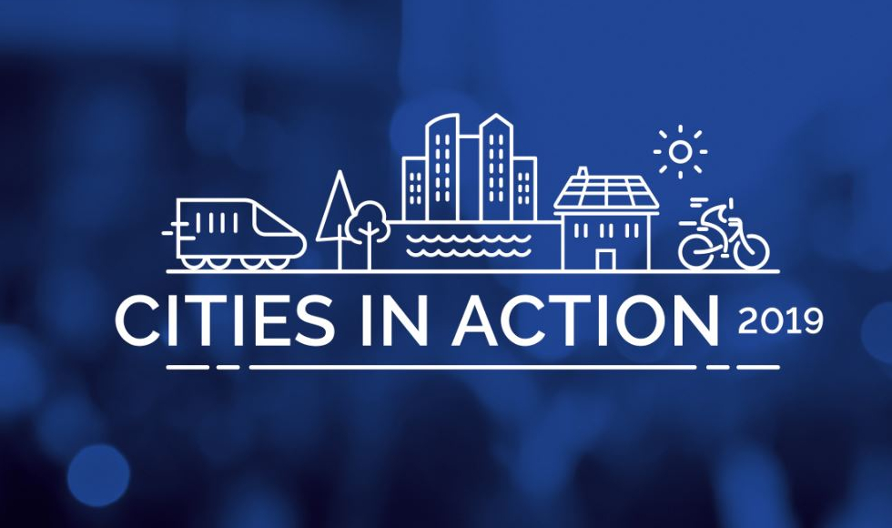 Logo for Cities in Action climate change summit