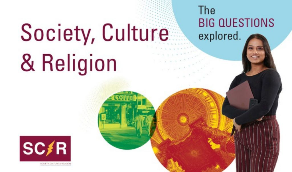Poster for new Society, Culture and Religion programs