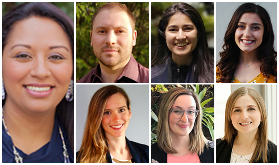 Headshots of banting postdoctoral fellow and six Vanier Scholars