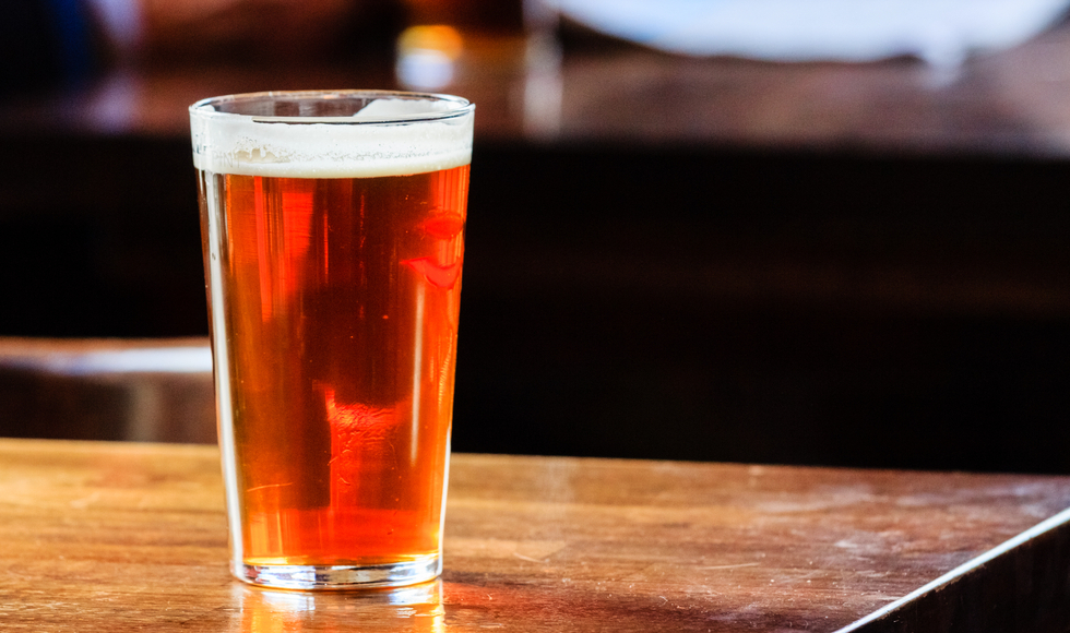 Pint of beer. Image by Shutterstock/kyrien