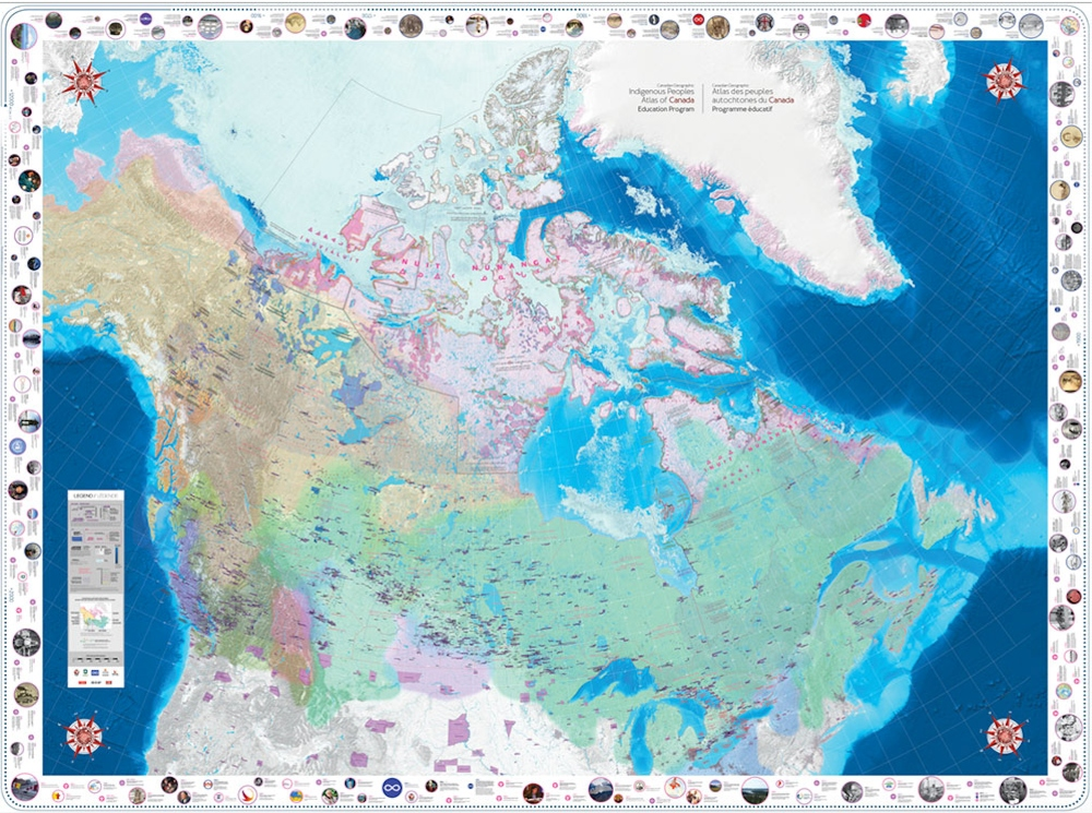Image of the Indigenous Peoples Atlas of Canada Giant Floor Map