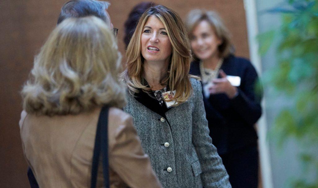 Teresa Cascioli, talking to a someone else
