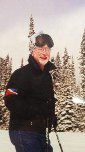 John Potter on a ski trip