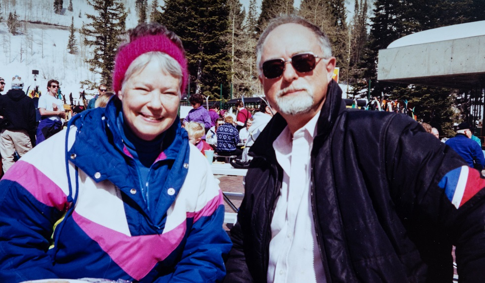Kitsy Fraser and John Potter on a ski trip in 1994.