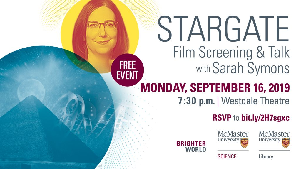 Stargate: Film Screening and Talk with Sarah Symons promotional poster
