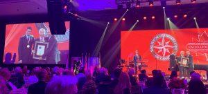 Walter Schroeder with Wayne Gretzky at Horatio Alger Gala