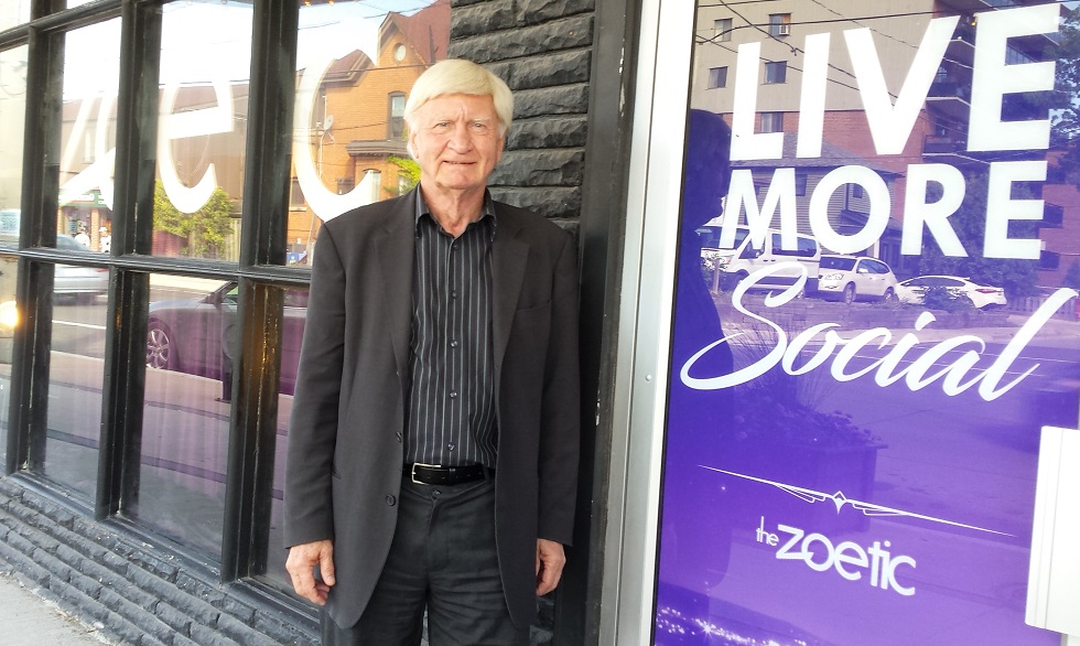 Walter Schroeder at the Zoetic Theatre in Hamilton