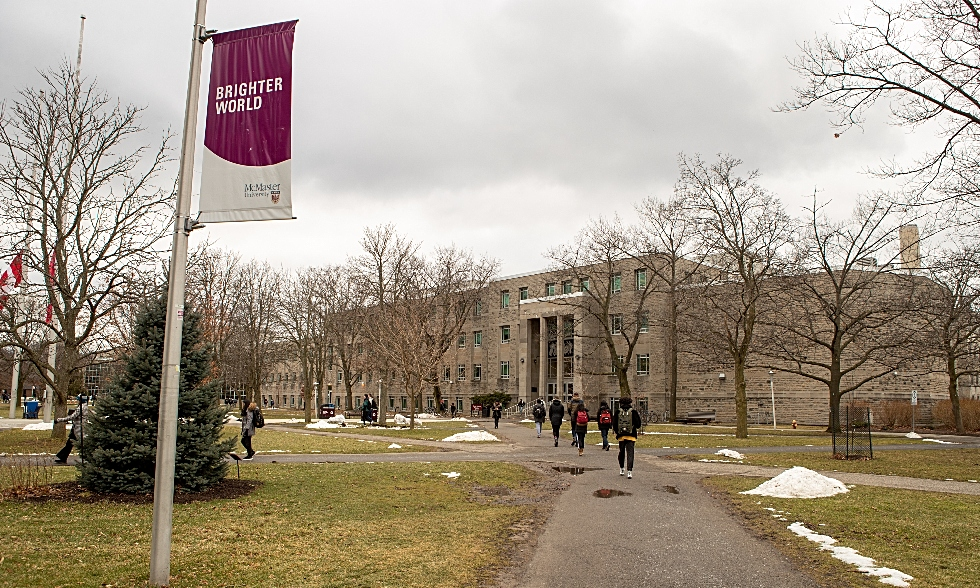 Shot of Burke Science building at McMaster with a