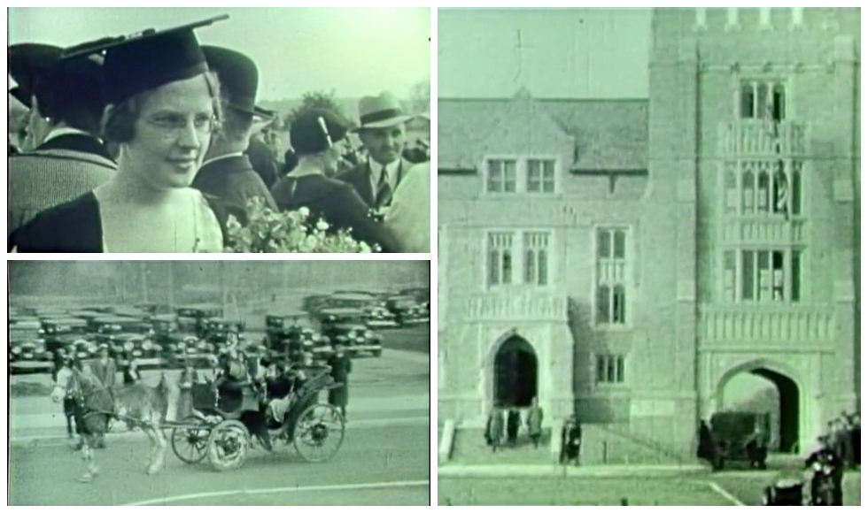 Scenes of the first convocation to be held on McMaster's Hamilton campus in 1934 and other footage from the 1930s and 40s are among the historical films that can be found online in the Library's digital archive.