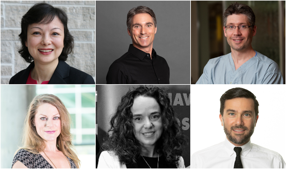 Six headshots of researchers who have been awarded Canada Research Chairs
