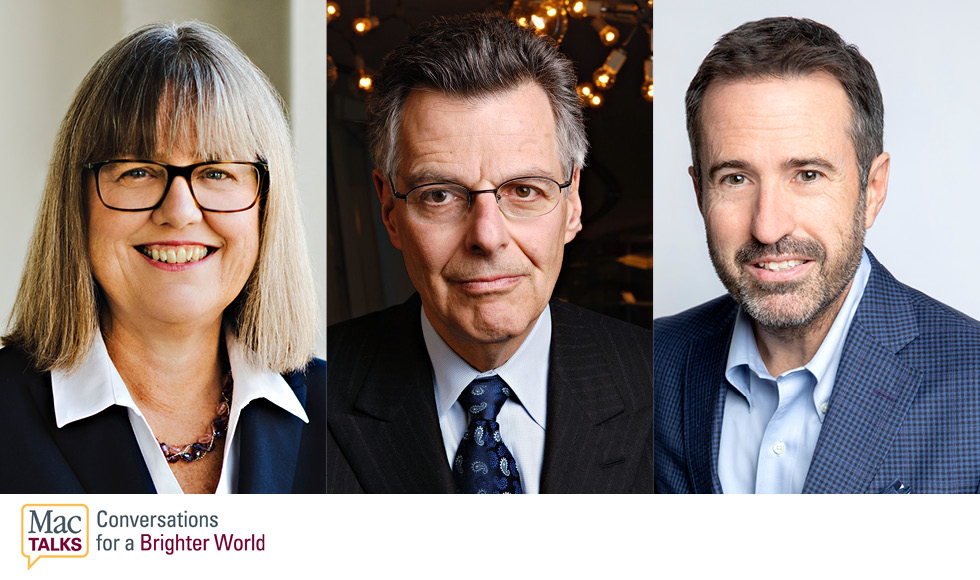 Join Mac grads and Nobel laureates Myron Scholes and Donna Strickland in conversation with author and innovator John Stackhouse in the third MacTalks event: Why the Nobel Prize Matters.